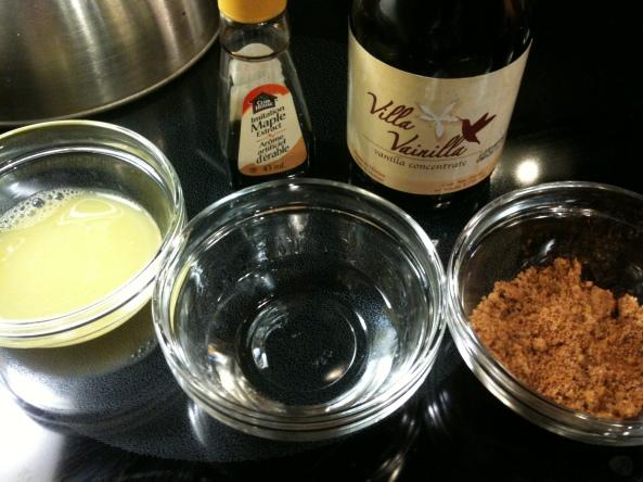 oj, vodka, brown sugar + cinnamon, maple and vanilla extract