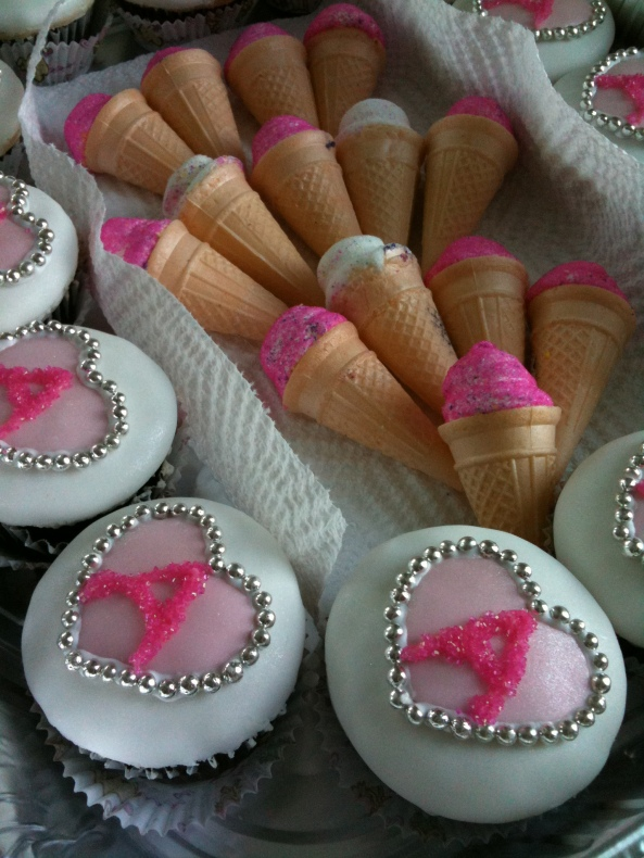 I even found a way to keep the ice cream cones involved! :)