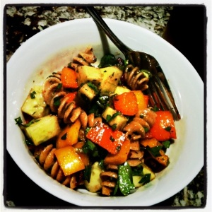 cold pasta salad - yummy! :)