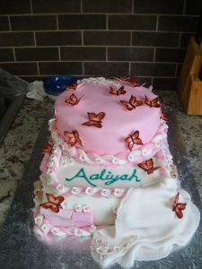 Front view of Aaliyah's cake!