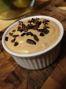 YUM! Peanut butter mousse!